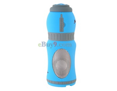 Stylish Water Bottle Audio Speaker (Blue)-As picture