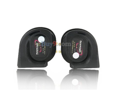 905 DC 12V Car Auto Vehicle Dual Tones Loud Horns (Black)-As picture