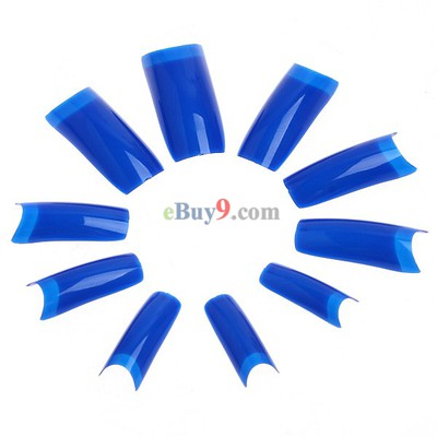 500pcs Blue Professional False Nails Art Acrylic Tips}-As picture