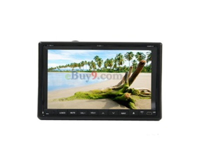 "HFK-C55 2 Din In-Dash 7.0"" TFT 16:9 Touch Screen Car DVD Player with GPS/ TV/ FM/ Bluetooth-As picture"