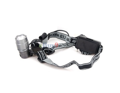 3W Headlight Headlamp (Black)}-As picture
