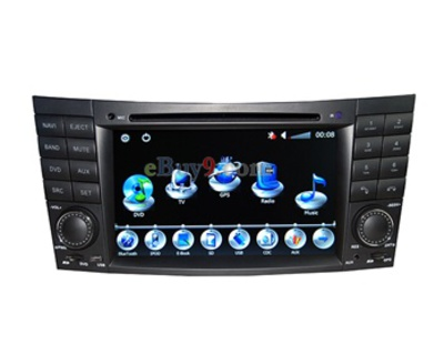 "Benz E-class 1 Din 7"" Touch TFT Screen ARM1176JZF-S 500MHZ CPU 128 Memory Car In-Dash DVD Player with GPS Analog ATSC TV Bluetooth AM FM RDS AVIN CAN-BUS 16GB TF Card Support EMS Shipping-As picture"