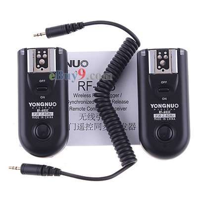 YONGNUO RF-603C Wireless Flash Trigger Remote Control Transceiver for Canon-As picture