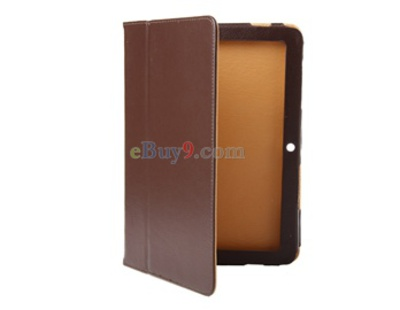 PU Leather Case for Samsung P7500 Galaxy Tab (Brown)-As picture