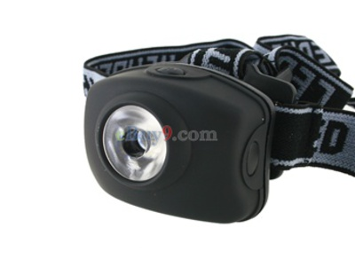 JF105 80 Lumen 4.5V 1W 3 Modes White Light Head Lamp (Black)}-As picture