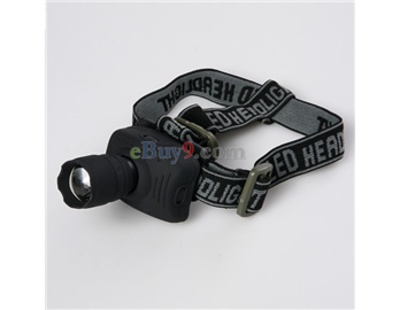 1W 1.5V Stretchable Zoom LED-Scheinwerfer (Schwarz)-wie Bild