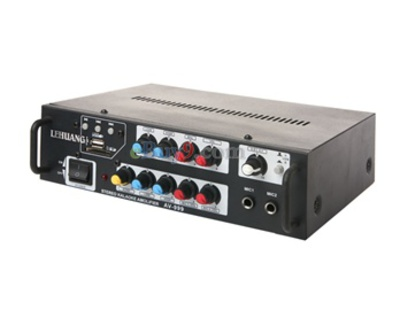 AC-DC Dual-Use Car Power Amplifier with SD/ MMC/ TF Support (Black)-As picture