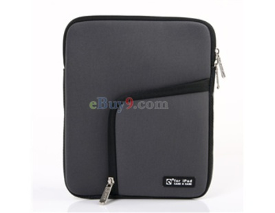 "8"" UMPC/MID/iPad Dual-layer Sleeve Case Bag (Gray)-As picture"