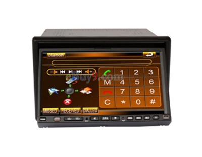 "HJ817S 7"" LCD Touch Screen 2 Din Car DVD Media Player with DVB-T/ATSC 3D Interface Control USB Bluetooth SD Card FM TV EMS Shipping-As picture"