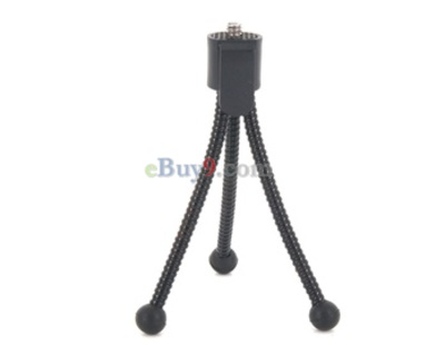 Foldable Camcorder Camera DV Tripod with Clip (Black)-Black