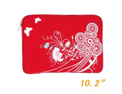 "10"" Soft Bag Case for Computer Notebook Laptop (Red)-As picture"