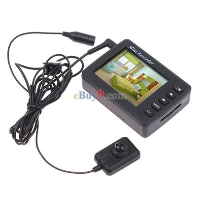 Black Mini Digital Video Camcorder Recorder and Mini Button CCD Camera-As picture