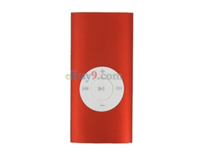 1GB Portable MP3 Media Player (Red)}-As picture