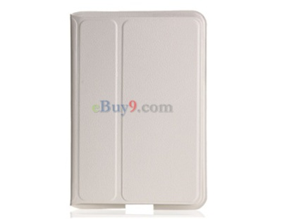 Super Slim Leather Protective Case for Samsung Galaxy Tab P6800, P6810 (White)-As picture