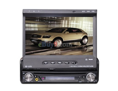 "One-Din 7"" LCD Touch Screen Car DVD Player with FM/ Bluetooth/ GPS/ DVB-T EMS Shipping-As picture"