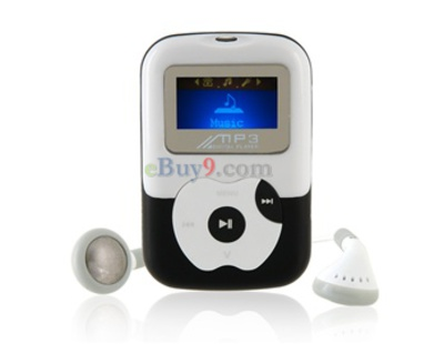 "1.1"" OLED Screen 4G TF Card-insert MP3 Audio Player with Speaker (Black)-As picture"