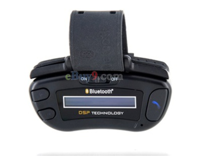 LCM Display Multi-function Bluetooth Handsfree Car Kit (Black)-As picture