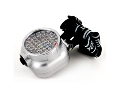 4 Mode 56 LED Head Light Headlamp(Silver)-As picture