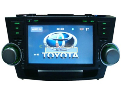 8&quot; Car DVD Player For Toyota Highlander with GPS IPOD ISDB-T Bluetooth RDS AVIN EMS Shipping-As picture