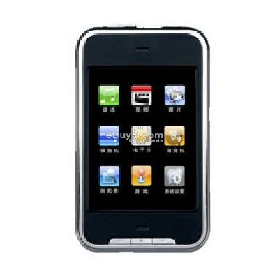 8GB 2.8 Inch Touch Screen MP4 MP3 Player Video FM Turner 8MP056661-Black