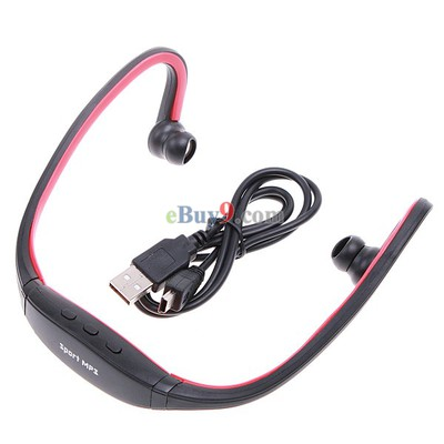 Wrap Around Wireless Headphones Headset Sport MP3 Player 2GB-As picture