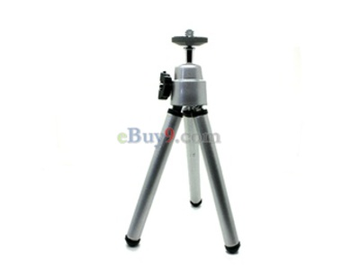Mini Tripod Stand for Camera Lens Digital Camera (Silver)-As picture