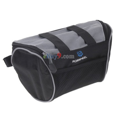 Bicycle Bike Handlebar Front Tube Bag Cycling Frame Pannier Storage Pouch-As picture