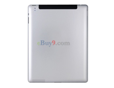 Replacement Back Cover for iPad &  iPad 2 (Silver)}-As picture