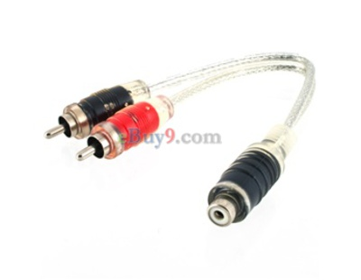 5pcs C004 3.5mm High Preformance Auto Car Interconnect Cable Set (Transparent)-As picture