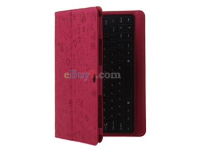 Small Witch Design Leather Keyboard Protective Sleeve for Samsung Galaxy Tab 7510 Tablet PC (Pink)-As picture