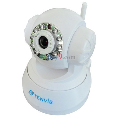 Tenvis JPT3815W Wireless WiFi IP Camera CMOS CCTV Security System PT Control White-As picture