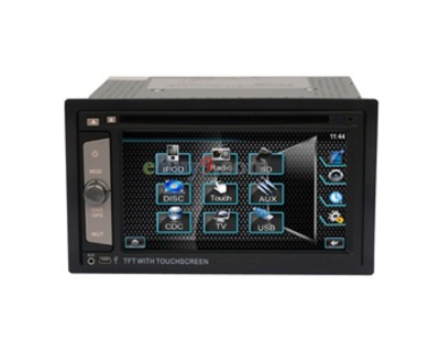 "HJ6202 6.2"" LCD Touch Screen 2 Din Car DVD Media Player with 3D Interface Control USB Bluetooth AM/FM SD Card TV EMS Shipping-As picture"