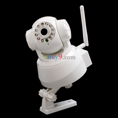 Wireless WiFi Security IP Camera Two Way Audio IR Night Vision P/T-As picture