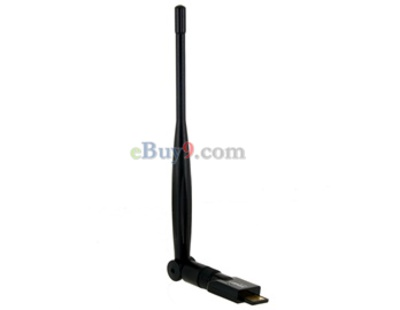 EDUP EP-MS150N 802.11n 150Mbps USB Wireless Network Card with 5dBi Antenna (Black)-As picture