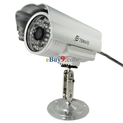 Tenvis IP602W Wireless WiFi IP Camera Outdoor CMOS CCTV Security System PT Control Silver  -As picture