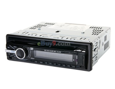 1 Din Car DVD Player with AM FM AVIN AVOUT 16G TF Card Support-As picture