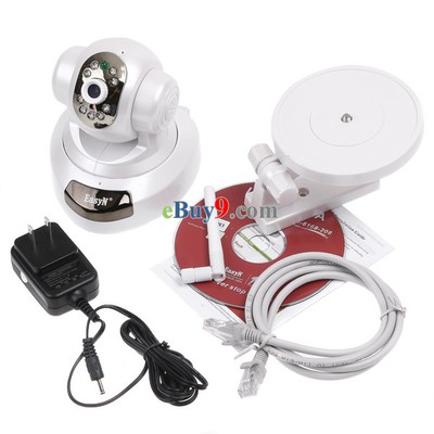 EasyN Wireless WiFi IP Camera HD 1MP CMOS CCTV Security System Alarm PT HD 1MP-As picture