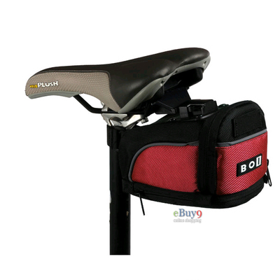 2012 BOI Bicycle quick release saddle bag Bike Rear Seat Bag Cycling Saddle Pouch}-red