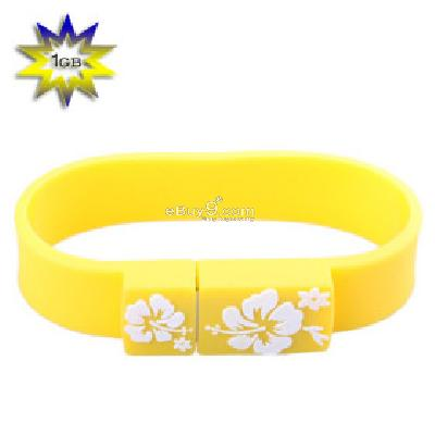 Sporty Wristband USB 2.0 Flash Drive (1GB) B087542-As picture