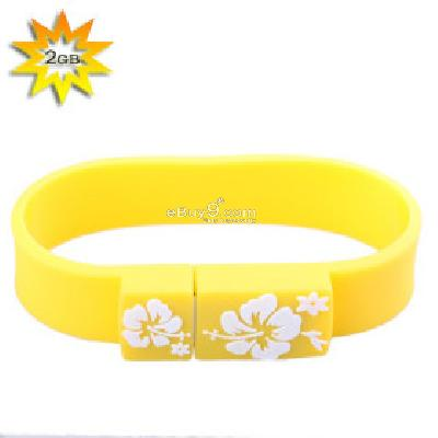 Sporty Wristband USB 2.0 Flash Drive (2GB) B087606-As picture