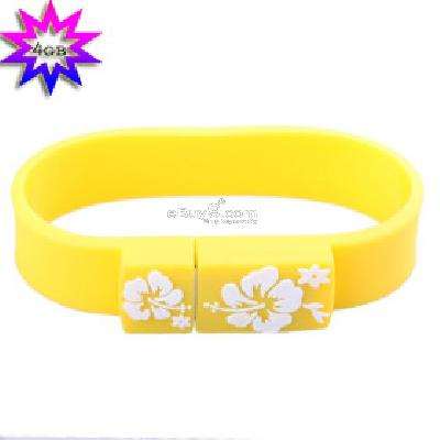 Sporty Wristband USB 2.0 Flash Jump Drive (4GB) B087636-As picture