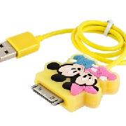 /mickey-and-minnie-silicone-iphone-4-usb-20-data-cable-ct17y-p-2746.html