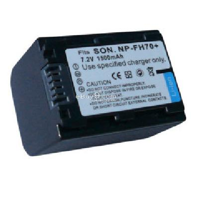 Replacement Camcorder Battery FH70 FH100 for Sony DCR-DVD105 Sony DCR-DVD308  CB166974-As picture