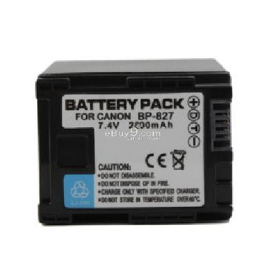 BP-827 Compatible 7.4V 2800mAh Battery Pack for Canon HF10 and More CB172326-As picture