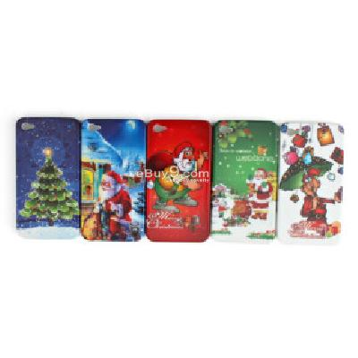 christmas case for iphone 4g 4s (5 pcs a set) CFI237238-As picture