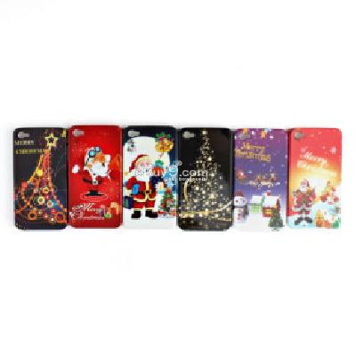 merry christmas case for iphone 4g 4s (5 pcs a set) CFI237240-As picture