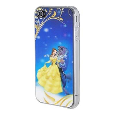 durable beauty and the beast protective skin case with 3d-vision for iphone 4 CM46X-As picture