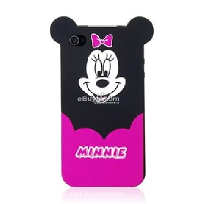 minnie tpu back hard case skin cover for apple iphone 4g CN36X-As picture
