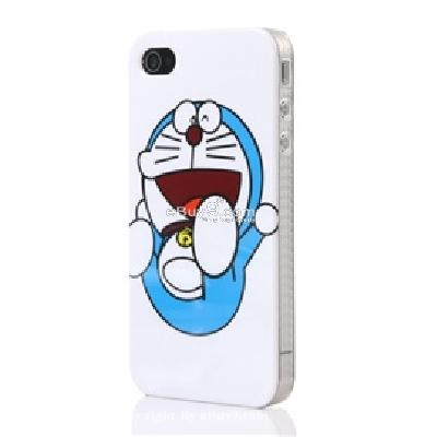 durable doraemon design open-face protective skin case for iphone 4 CO56W-As picture