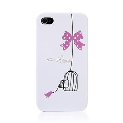 butterfly knot and birdcage hard plastic iphone 4g back case CO86P-As picture
